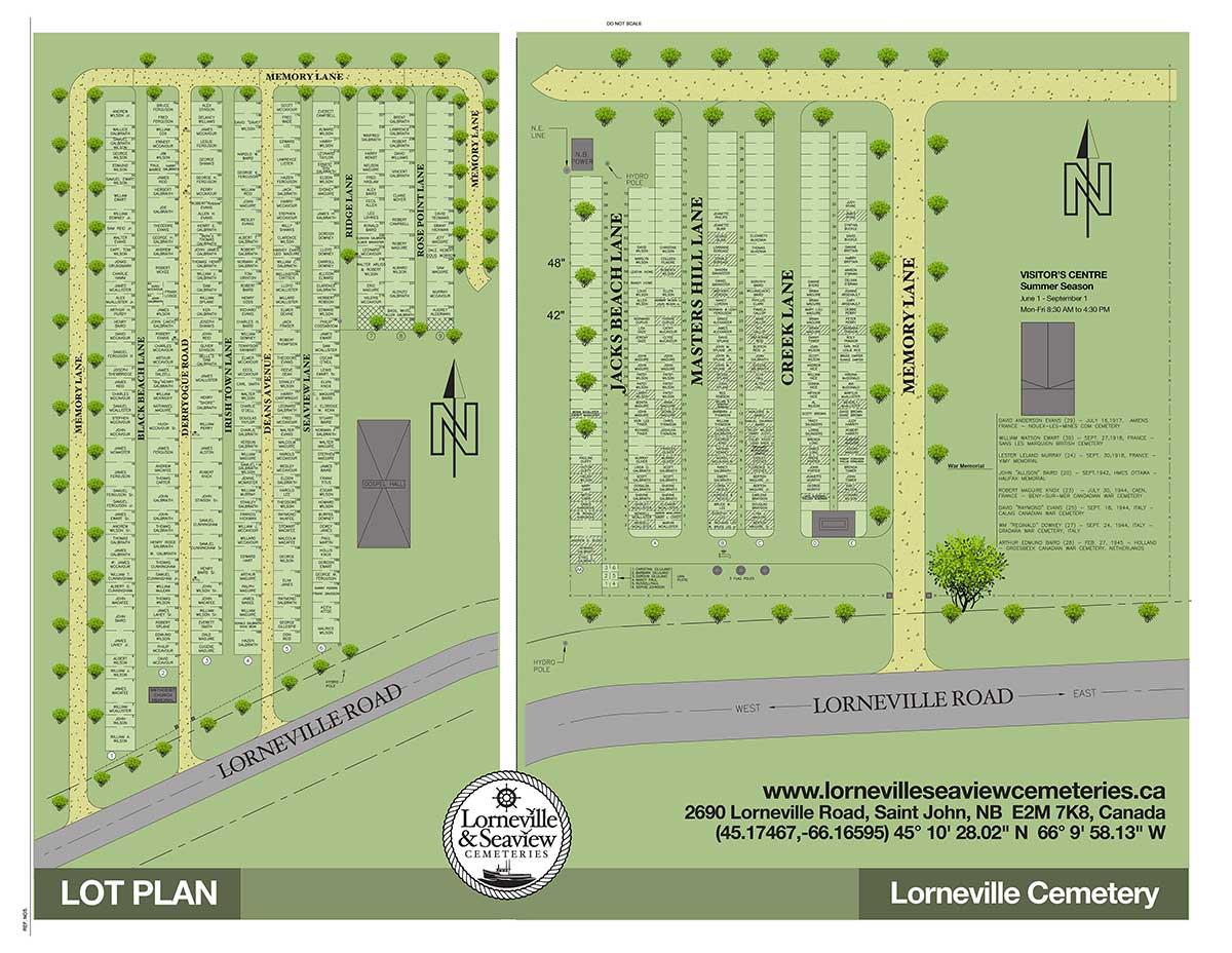 Lorneville Cemetery Map