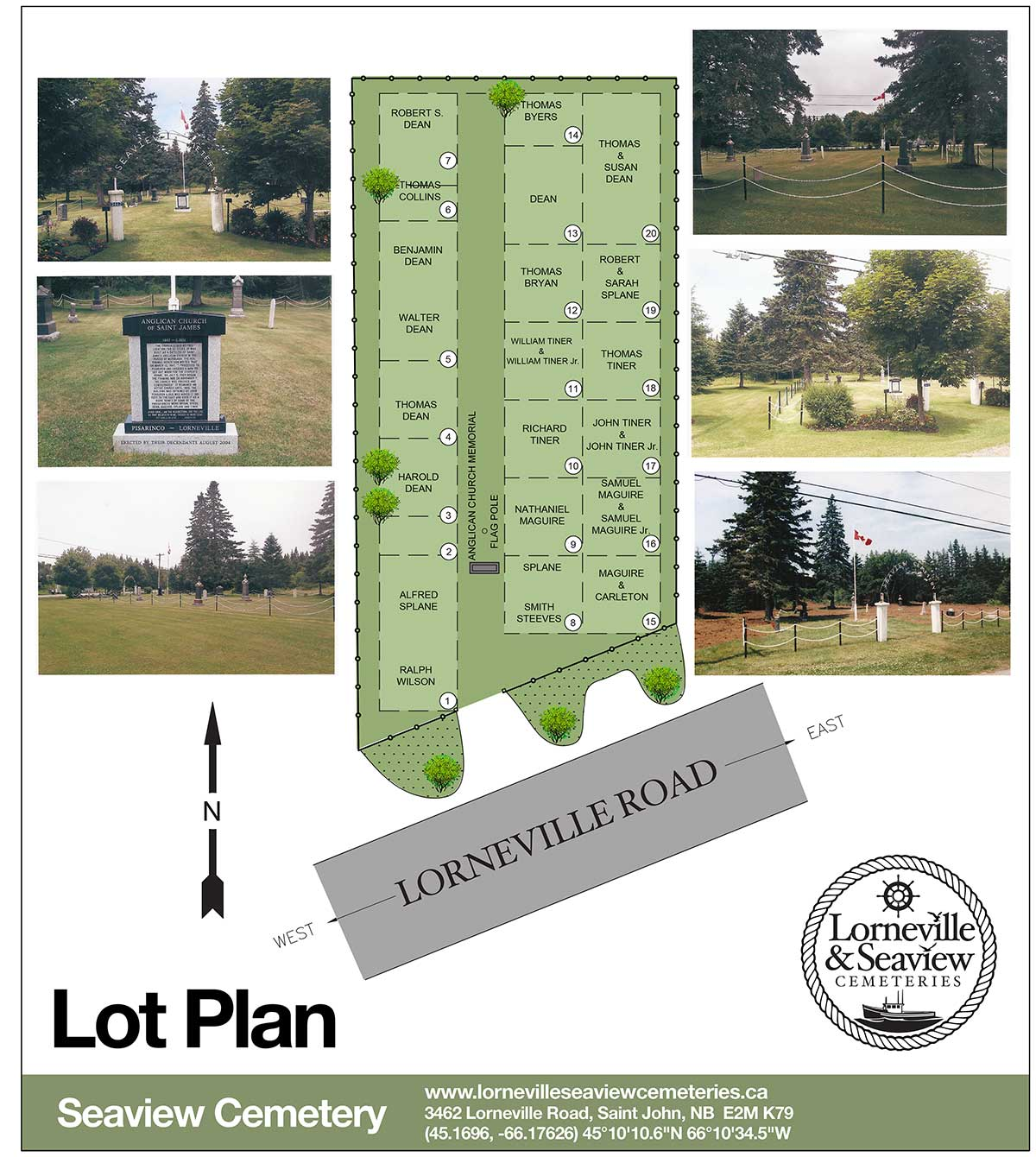 Seaview Cemetery Map