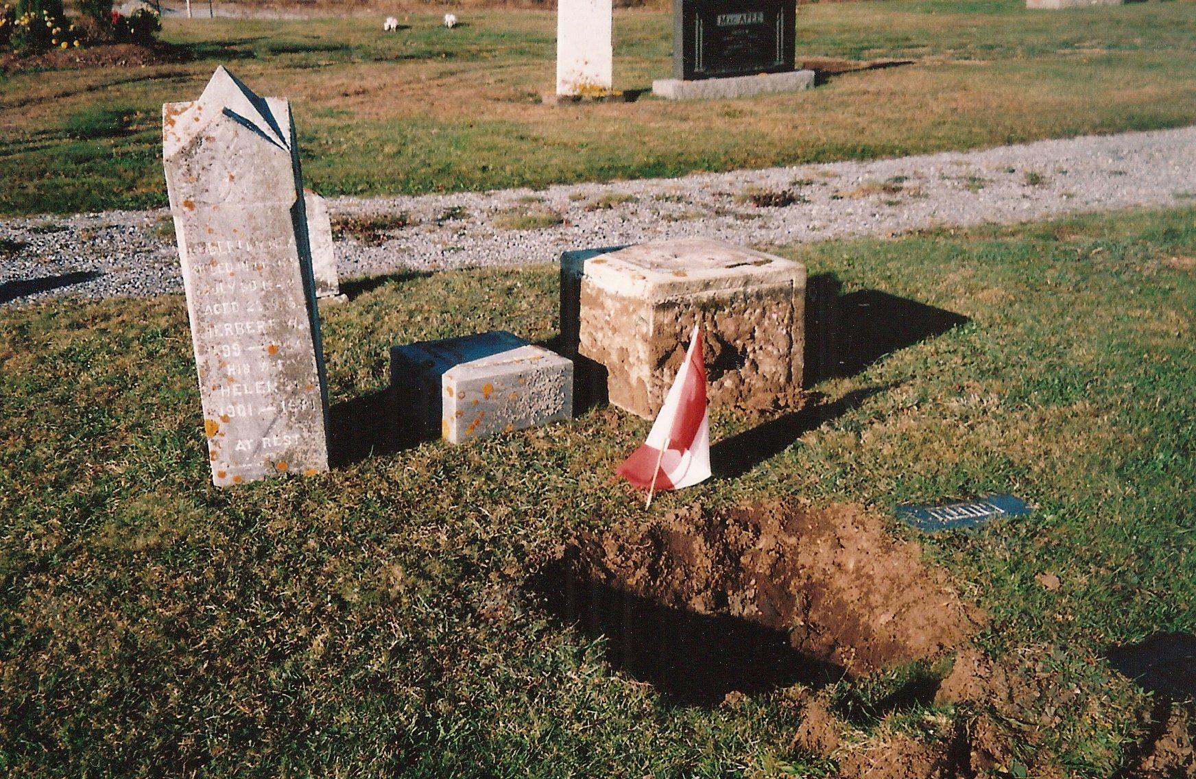 gravestone repairs 2