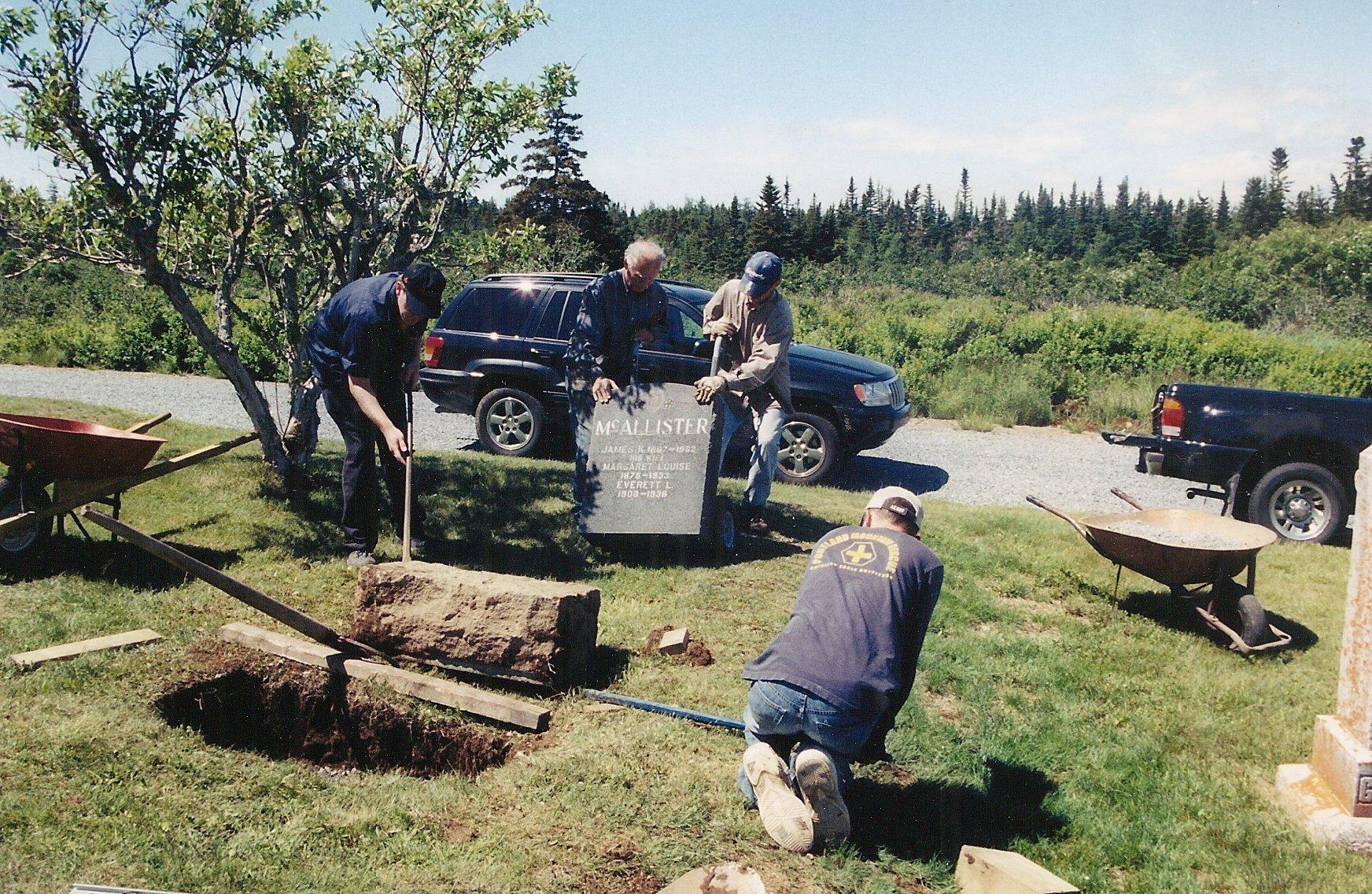 gravestone repairs 5a